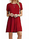 Women\'s T Shirt Dress Tee Dress Knee Length Dress Navy Wine Red ArmyGreen Purple Light gray Black Red Light Pink Short Sleeve Solid Color Spring Summer Round Neck Casual / Daily 2021 S M L XL 2XL