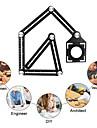 Six Folding Ruler Floor Tile Hole Locator Template Measuring Tool Protractor Multi-Angle Glass Arrangement Universal Puncher
