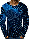 T-shirt Chemise Homme 3D effet Graphique 3D Grandes Tailles 1 pc Imprime Manches Longues Quotidien Vacances Standard Polyester Elegant Exagere Col Rond
