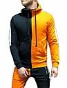 мужские спортивные костюмы на молнии с боковыми полосками толстовки на молнии куртка с завязками на поясе комплект бегунов с длинными рукавами (толстовки черный + оранжевый, большие)