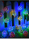 Solar String Lights Outdoor Lights Moroccan Ball Multicolor Warm White White 50LED 30 LED 20LED Globe Fairy String Lights Solar Powered Lantern for Outdoor Garden Yard Patio Christmas Tree Party