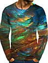 T-shirt Chemise Homme 3D effet Graphique Grandes Tailles Imprime Manches Longues Quotidien Des sports Standard Polyester Col Rond