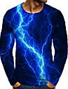 T-shirt Chemise Homme 3D effet Graphique 3D Grandes Tailles Imprime Manches Longues Quotidien Des sports Standard Polyester Col Rond