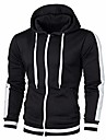 beautyfine men hooded sweatshirt otono invierno hoodie top manga larga patchwork tee outwear blusa black