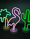 LED Neon Sign Light Flamingo Night Light Cactus Coconut Tree  Christmas Party Wedding Decoration Home Gift USB Battery Operation Neon Lamp for Holiday Shop Cafe Decoration