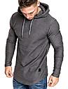 เสื้อฮู้ดออกกำลังกายสำหรับผู้ชายเสื้อยืดแขนยาวมีฮู้ดสีเทาขนาดกลาง