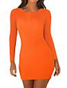 Dámské Svetrové šaty Krátké mini šaty Oranžová Černá Rubínově červená Dlouhý rukáv Pevná barva Slátanina Podzim Kulatý Sexy Jdeme ven Štíhlý 2021 S M L XL