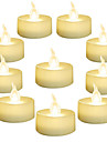12Pcs 24Pcs Battery Operated LED Tea Lights Candles Flameless Flickering Weeding Decor