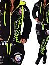 女性用 2個 フルジップ トラックスーツ スウェットスーツ カジュアル 2個 冬 長袖 ハイウエスト ジムトレーニング ランニング ジョギング 運動 スポーツウェア プラスサイズ レイクブルー パープル ルビーレッド イエロー オレンジ グリーン アクティブウェア マイクロエラスティック