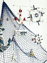 středomořská dekorativní rybářská síť tlusté konopné lano pozadí nástěnná dekorace závěsná rybářská síť