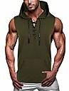 miesten rento pitsi-up lihashuppari tank top workout leikattu paidat hihaton kehonrakennus harjoitus huppari armeijan vihreä l