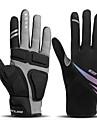 Zima Cyklistické rukavice Dotykové rukavice Voděodolný Větruvzdorné Prodyšné Zahřívací Celý prst Akvitita a sport Černá pro Dospělé Cyklistika / Kolo Rukavice na sport a akvititu