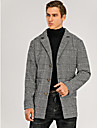 Bărbați Palton pardesiu Zilnic Primăvara & toamnă Regulat Palton Rever Clasic Fit regulat De Bază Jachete Manșon Lung Picior de vară Peteci Gri