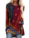 Per donna Abito a T shirt Mini abito corto Blu Viola Verde Rosso Manica lunga Monocolore Collage Autunno Rotonda Elegante Sensuale 2021 S M L XL XXL 3XL