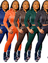 女性用 2個 フルジップ トラックスーツ スウェットスーツ ストリート カジュアル 2個 長袖 ハイライズ エラステイン ライトウェイト 高通気性 ソフト ジムトレーニング ランニング アクティブトレーニング ジョギング 運動 スポーツウェア ソリッド ブラック ダークグリーン オレンジ ネービーブルー コーヒー アクティブウェア マイクロエラスティック / アスレイジャー / クロップド