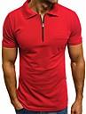 Homens Camisa de golfe Camisa de tenis Cor Solida Manga Curta Esportes Blusas Casual Moda Corte Justo Azul marinho Branco Cinzento Claro