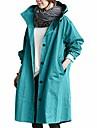 Γυναικεία Καμπαρντίνα Παλτό Causal Καθημερινά Ρούχα Δουλειά Φθινόπωρο Άνοιξη Μακρύ Παλτό Μονόπετο Φαρδιά Αντιανεμικό Κομψό & Μοντέρνο Σακάκια Μακρυμάνικο Συμπαγές Χρώμα Τσέπη Μπροστινό κουμπί