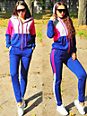 セクシーなトラックスーツの女性のトップスとパンツは、女性のためのツーピースセットトップ+パンツの衣装を設定します青