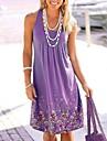 Women\'s A Line Dress Knee Length Dress Purple Yellow Gray Red Sleeveless Pattern Summer Casual 2021 S M L XL XXL XXXL