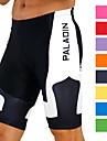 ILPALADINO Homens Bermudas Acolchoadas Para Ciclismo Lycra Poliester Roxo Amarelo Vermelho Retalhos Moto Shorts Shorts Acolchoados Respiravel Secagem Rapida Resistente Raios Ultravioleta Redutor de
