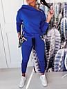 Dámské Základní Bez vzoru Dvoudílná sada Mikina Tepláková souprava Kalhoty Společenské oblečení Běžecké kalhoty Topy