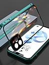 capa magnetica para apple iphone 12 / iphone 11 / iphone 12 pro max clear protecao de corpo inteiro de metal adsorcao capa de vidro temperado dupla face para celular com lente de protecao de camera