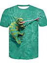 t-shirt da uomo rana albero della pace, design verde, piccola
