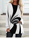 Per donna Abito a T shirt Mini abito corto Nero Manica lunga Monocolore Fantasia geometrica Con stampe Autunno Primavera Rotonda 3D Casuale Feste Per eventi Stampa 3D S M L XL XXL 3XL