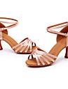 Mulheres Sapatos de Danca Latina Sapatos de Danca Moderna Salto Teni Presilha Cadarco de Borracha Salto Alto Azul marinho Branco Preto Correia Cruzada Adolescente Adulto Sapatos Sexy Sapatos