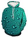 Herre Pullover-hættetrøje Paisley 3D Trykt mønster Hætte Daglig Ferie 3D-udskrivning 3D-tryk Hættetrøjer Sweatshirts Langærmet Grøn