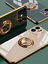estojo anelar de luxo para iphone 12 11 pro max xs xr x 7 8 plus se 2020 minicobertura de silicone tpu capa mole com suporte de suporte de anel