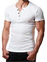 mens kortärmade v-ringade skjortor slim fit avslappnad träning henly sommar strandtoppar vanliga muskler sportiga tees