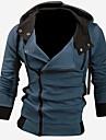 men\'s slim fit long sleeve hooded jacket grey xxl
