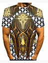 T-shirt Homme 3D effet Bande dessinee 3D 3D Imprime Manches Courtes Quotidien Vacances Standard Polyester Simple Mode Col Rond / Ete