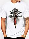 Men\'s Unisex Tee T shirt Shirt Hot Stamping Tree Plus Size Print Short Sleeve Daily Tops 100% Cotton Basic Casual Round Neck White / Black White Blue