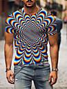 Hombre Tee Camiseta Camisa Impresion 3D Grafico de impresion en 3D Tallas Grandes Estampado Manga Corta Diario Tops Basico Casual Azul Piscina Morado Verde Trebol