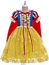 Kids Little Girls\' Dress Color Block Lace Yellow Midi Short Sleeve Princess Cute Dresses Regular Fit