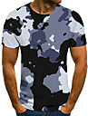 Men\'s T shirt Shirt 3D Print Geometric Abstract 3D Print Print Short Sleeve Casual Tops Casual Fashion Round Neck White