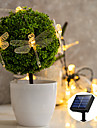 Solar Power LED String Light Outdoor Lamp 5M 20LEDs Outdoor Waterpoof Dragonfly Garden Yard Lawn Party Holiday Decoration Warm White Lighting IP68
