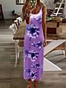 ชุดแม็กซี่สำหรับผู้หญิง, ผู้หญิงแขนกุดคอวีชายหาดแม็กซี่เดรสสายรัดวันหยุดลายดอกไม้ sundresses ยาว boho kaftan dress (สีเทา, m)