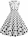 Women\'s A Line Dress Knee Length Dress Blue Blushing Pink White Red Brown Sleeveless Polka Dot Spring Summer Round Neck 1920s Vintage Party Holiday Polka Dot S M L XL XXL