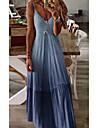 Women\'s Swing Dress Maxi long Dress Blue Purple Yellow Blushing Pink Wine Gray Sleeveless Solid Color Summer V Neck Casual 2021 S M L XL XXL 3XL 4XL 5XL