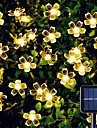 Solar LED String Lights Solar Outdoor Lights 6.5m 30LEDs Cherry Blossom Outdoor Waterpoof 8 Mode Warm White Colorful White Outdoor Waterproof Fairy Light Christmas Wedding Holiday Decoration Lamp