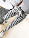Dámské Šik ven Chino Pohodlné Ležérní Víkend Kalhoty chinos Kalhoty Proužek Po kotníky Kapsy Elastický pas Bílá