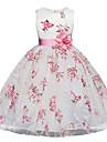 Kids Girl\'s Dresses for Girls, Sleeveless, Special Occasion Dresses White 5-6 Years