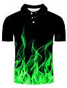 Men\'s Golf Shirt Tennis Shirt 3D Print Geometric 3D Print Print Short Sleeve Casual Tops Casual Fashion Black