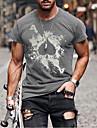 Pánské Unisex Trička Tričko Košile Horká ražba Grafické tisky Písmeno Větší velikosti Tisk Krátký rukáv Ležérní Topy 100% bavlna Základní Na běžné nošení Módní Designové Kulatý Bílá Červená Černá