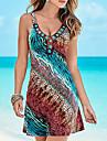 Women\'s Strap Dress Short Mini Dress Blue Sleeveless Solid Color Tie Dye Print Summer cold shoulder Casual 2021 S M L XL XXL 3XL 4XL 5XL