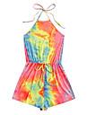 ผู้หญิงมัดย้อมกีฬาเสื้อคลุมหลวม ๆ เอวขากว้างผูกคอชุดฤดูร้อนหลากสี x- เล็ก