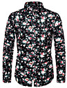 Men\'s Shirt Other Prints Floral Polka Dot Color Block Print Long Sleeve Street Tops Fashion Streetwear Cool Beach Black Navy Blue